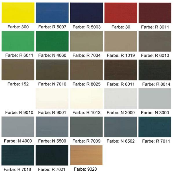 Wandfarben Farbpalette Gelb: Farbpalette